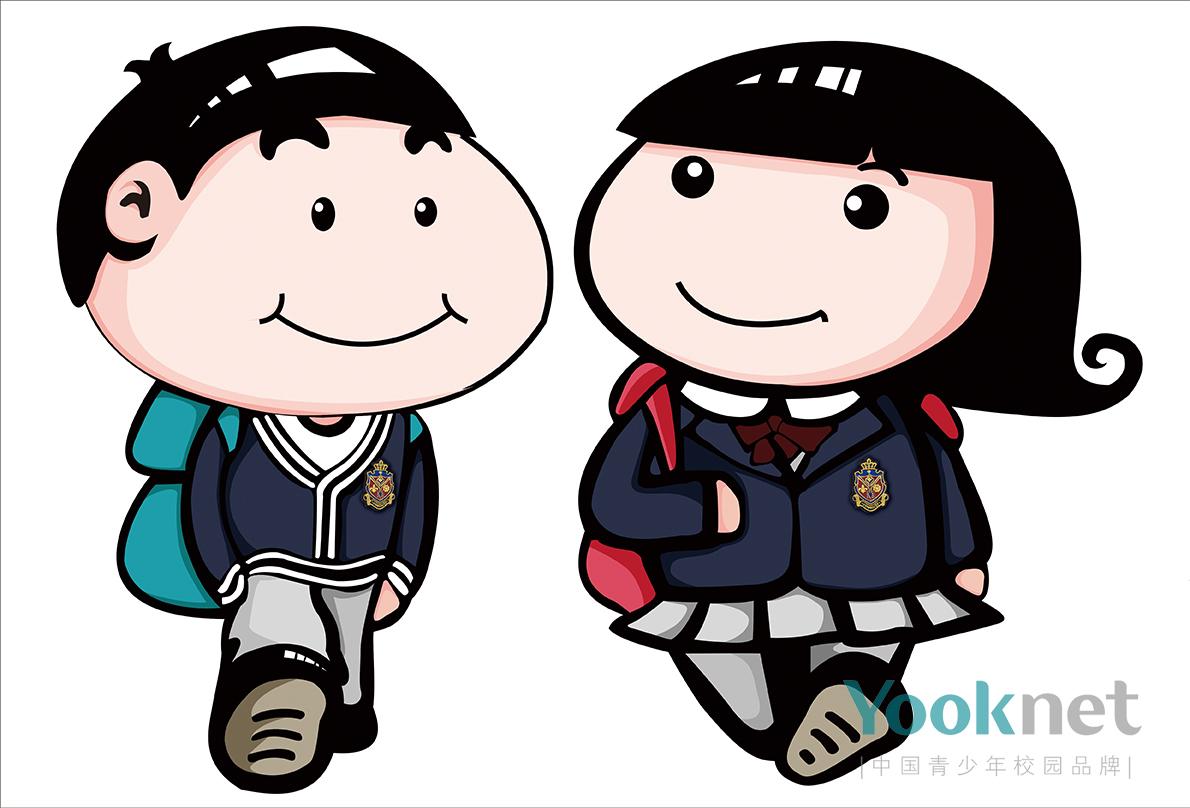 中国校服卡通人物