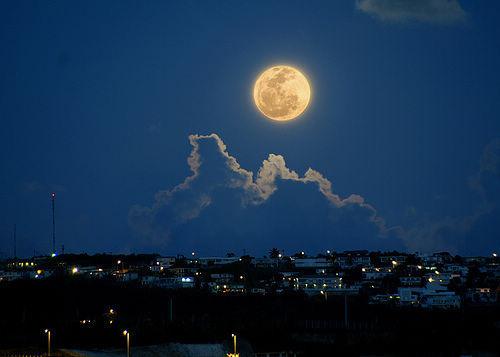 中秋节,我们一起看月亮