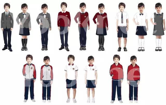 校服设计说明:五大方向打造哈小整体着装方案