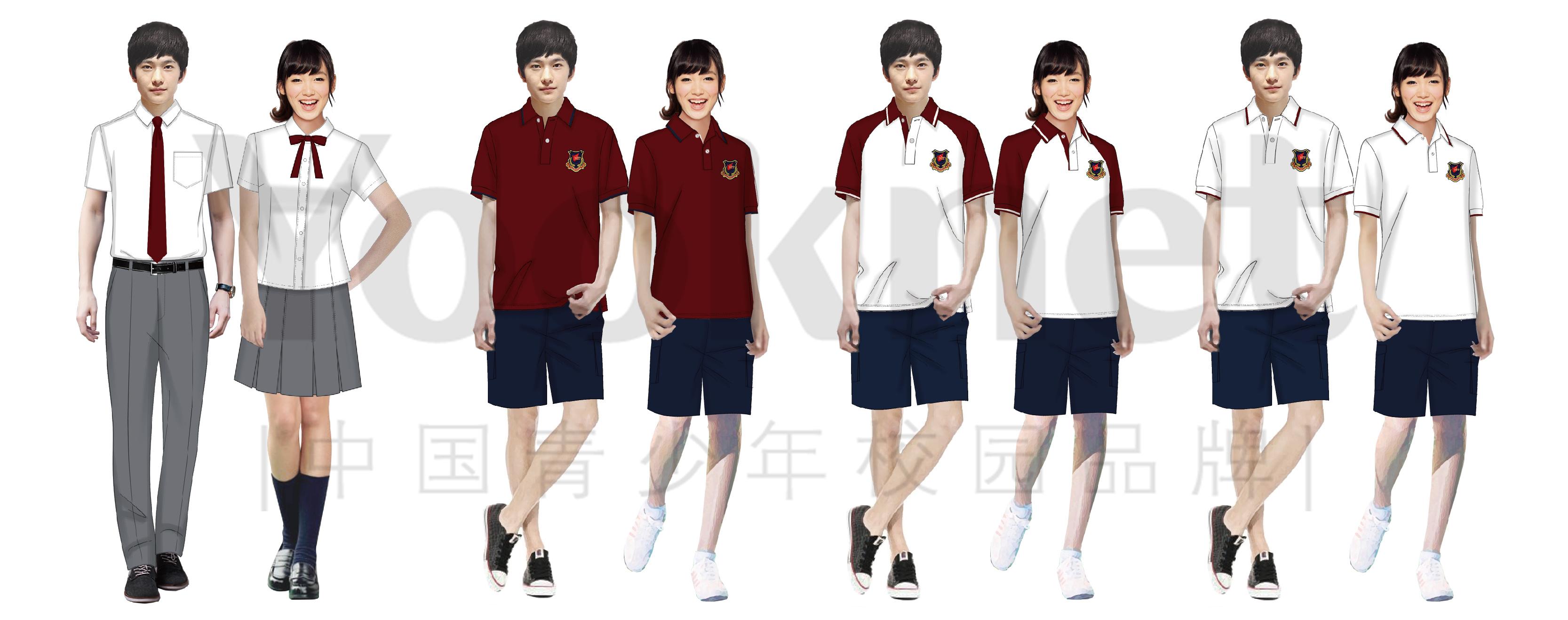 初中校服设计效果图展示